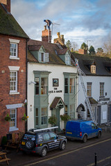 Looking for Father Christmas ! (DP the snapper) Tags: ladder bewdley chimney