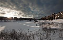 oakville_frozen_lake_sun-rays_dark_01_8780060190_o (wvs) Tags: cold hockey ice oakville snow winter toronto ontario canada can