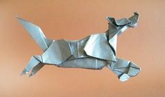 Dog running - Kunsulu Jilkishiyeva (Rui.Roda) Tags: origami papiroflexia papierfalten chien perro cachorro cão dog running kunsulu jilkishiyeva