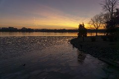 Icy Potomac Sunset (jtgfoto) Tags: approved washingtondc washington tidalbasin sunset dusk cityscape sonyimages sonyalpha light sunlight potomac potomacriver sky water river nightscape tree clouds ice winter winterscape