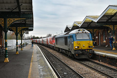 67003 + 82218 + 91117 - March - 06/01/19. (TRphotography04) Tags: db cargo uk atw blue 67003 drags london northeastern railways lner dvt 82218 91117 past march 1a25 1044 leeds kings cross due engineering works taking place ecml between hitchin peterborough grand central hull trains services were diverted via ely cambridge