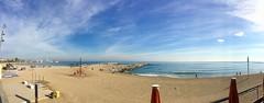 """""""Playa de invierno"""" (atempviatja) Tags: mar cielo playa paseo luz sol arena marino barcelona somorrostro"""