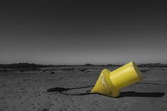 """Jaune...""""Explore"""" (De l'autre côté du mirOir...) Tags: jaune plage mer eau ciel bretagne breizh brittany fr france french nikon nikkor d810 nikond810 noiretblanc noirblanc nb blackwhite monochrome beach explore"""