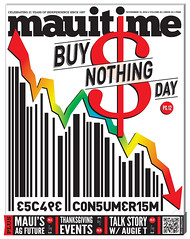 22.23 Maui Time Weekly Buy Nothing Day Cover.jpg (mauitimeweekly) Tags: 2223cover mauitimeweekly buynothingday cover