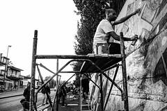 Puortate 'o scalett jam vol.3 (G.rasshopper) Tags: napoli piscinola street wall graffiti art writer people bw blackandwhite monocromo canon eos 1100d 2017 puortateoscalett jam boy 94 montana colors crownsmonsterz italy half