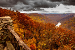 MCZ_2203 (markczerner) Tags: landscape outdoors fall colors fallcolors autumn orange red trees nature river coopers rock coopersrock statepark park west virginia wv wva countryroads country roads cheatriver valley mountains forest