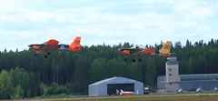FinAF 100 years_2018_06_17_0461 (FarmerJohnn) Tags: ilmavoimat finnishairforce100years finnishairforce midnighthawks 100v ilmavoimat100v airshow ilmailunäytös juhlavuosi tikkakoski hawk trainer jet hawkmk66andmk51 boeingfa18chornet hornet saabgripen saab gripen draken saabdragen saabsafir glostergauntlet fougamagister fouga magisten safir valmetl70vinka aw119kekoala nh90 pilatuspc12 gateslearjet35as casac295m vinka pilot lentäjä 17thjune2018 blue sky sininen taivas show air jyväskyläairport finland canon canoneos5dmarkiii canonef70200l40isusm juhanianttonen