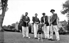 Croquet on the lawn - Jonathan McCafferty, Peter Horrocks, Tony Marshall & Philip Porter (photo courtesy of Tony Marshall)