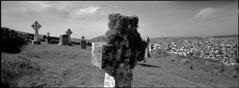 Barra (Philippe Torterotot) Tags: xpan hasselblad analog film filmisnotdead argentique panoramique panorama blackandwhite monochrome noirblanc noiretblanc island isles cross cemetery celtic