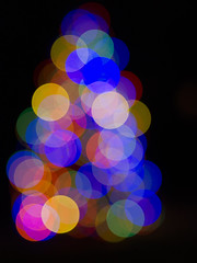 Neighborhood Christmas Tree (Boneil Photography) Tags: boneilphotography brendanoneil m43 microfourthirds olympus omdem10 45mmf18 bokeh christmastree lights oof outoffocus