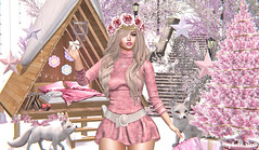 Pink Holiyays! (JarSephora) Tags: astralia uber dubai event its cold outside cabin bed tree grow your chsristmas garland pink white holidays holiyays belle epoque free spirit headpiece pocket gacha limerence djorjiia djoordjia kinnky fortuna jewelry set crystal saintstreet winter scene backdrop amd apple may seasoons season sweater dress besha snow adventure fantasy collective figure8 figurre 8 monnarch chandelier gold genus project baby face maitreya lara mesh bdy jian artic foox flf fifty mossmink moss mink spell lagom clavv secondlife