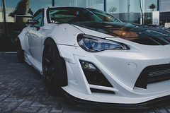 Rocket Bunny FRS (ChristopherMokDesign) Tags: frs toyota rays te37 rocketbunny widebody white car