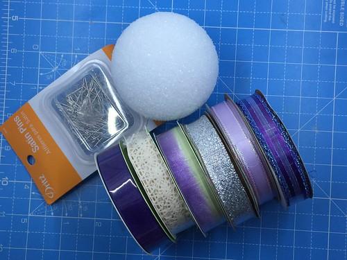 materials for ribbon ornament