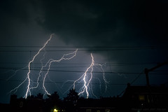 Lightning over the city of Vlaardingen, near Rotterdam, Netherlands (mesocyclone70) Tags: lightning storm thunderstorm city silhouette netherlands rotterdam
