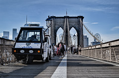NYPD tricycle (the crazy french man) Tags: nypd ny new york city brooklyn bridge police tricycle