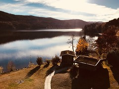 Herbst am Titisee (Niwi1) Tags: reflection spiegelung lake water autumn blackforest schwarzwald herbst wasser see germany outdoor