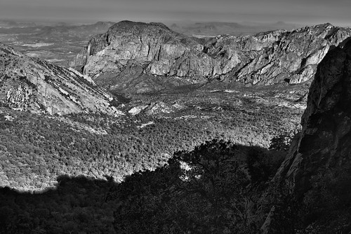 Shadows and Sunlight (Black & White, Big Bend National Park)
