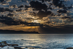 Sunrise, Sunrays, Clouds and the Sea (Merrillie) Tags: daybreak sunrise cumulus nature dawn coast water morning sea newsouthwales rocks pearlbeach nsw rocky waterscape ocean earlymorning landscape waves coastal clouds outdoors seascape australia centralcoast sky seaside