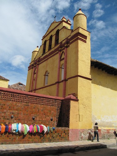 The colonial-era cathedral in San Cristobal de las Casas, Chiapas, Mexico.