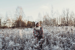 And then winter arrived (AlexanderHorn) Tags: portrait portraiture winter finland morning light sunrise white cold dof beautiful woman girl face smile eyes sigma