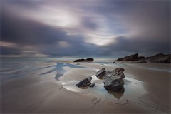 Whitsand Pool (Twogiantscoops) Tags: art creative cornish lee low tide levels photoshop landscape pool seasons britishheartfoundation lework cornwall rocklines beach manfrotto wellies neutraldensity colours areyouanorgandonor wet sand longexposure photography whitsand tidal painterly canon ripples filters seascape mirrorlock west country 5dmk2 effects shutterrelease cpfilter steelyblue clouds lephotography 1635 experimenting creativity ndgrads southwest tripod
