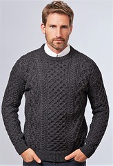 Mens charcoal aran honeycomb knit (Mytwist) Tags: wool exclusive retro thick passion love knitted grobstrick fashion design style cozy bulky winter ski mytwist knitwear outfit fuzzy genser hygge modern lovely fisherman gift itchie knit fetish sweater jumper pullover laine yarn handknitted ullar blasket honeycomb crew anthracite irelands eye 672632 mens husband stitch aran charcoal qx pride
