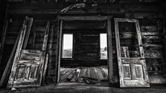 Relics of the Palouse X (PNW-Photography) Tags: abandoned lost found explored explore adventure urbex rural farming farm country blackandwhite bw doors palouse oaksdale oakesdale washington rusty dusty old rust dust