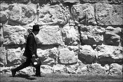 school mood (bostankorkulugu) Tags: jerusalem judaism jew jewish wall man student walk hat middleeast religion holyland israel