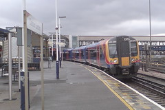 450099 (Rob390029) Tags: 450099 south west trains class 450 desiro train track tracks rail rails travel traveling transport transportation transit public emu electric multiple unit clapham junction railway station clj london red orange white blue colour colours colourful