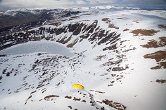 Glen Clova, Angus (Kieran Campbell) Tags: scotland glen cairngorms flying angus aerial paragliding clova winter snow alba