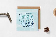 Hand Lettered Christmas Cards (AIM Designs) Tags: christmas cards handmade lettering typography stationery greetings festive kraft