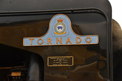 60163 Tornado - Right-hand Nameplate (simmonsphotography) Tags: railway railroad nenevalley heritage preservation locomotive engine train steam uksteam 60163 tornado peppercorn a1 lner pacific newbuild nameplate wansford