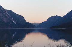 Sunset in Norway (Victorio Dente) Tags: norway odda 35mm nikon 35mmfilm noruega nikonfm cielo agua montaña paisaje