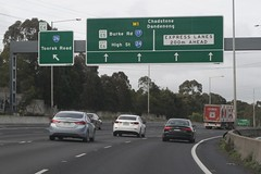 'Express Lanes' signage outbound on the Monash Freeway at Toorak Road (Marcus Wong from Geelong) Tags: melbourne freeway monashfreeway road driving motoring victoria australia