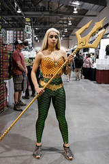 Aquaman (_Codename_) Tags: calgary alberta expo comicon 2018 comicentertainment cosplay trident aquaman orange green boobs cleavage chest