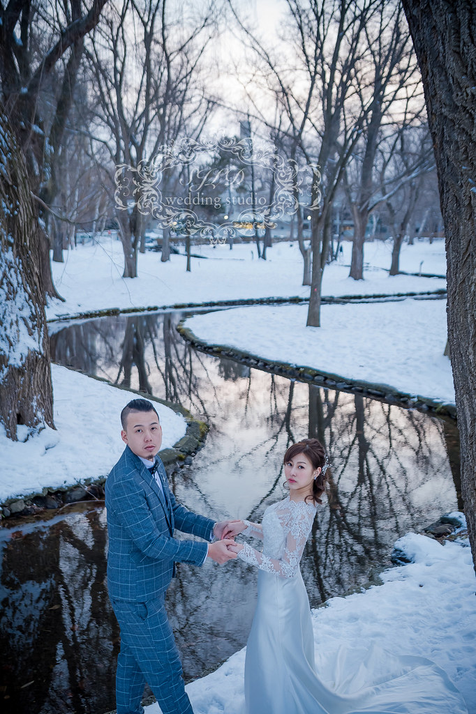 海外婚紗攝影,日本北海道札幌婚紗,北海道大學婚紗,雪國雪地雪景婚紗,北海道市政廳婚紗