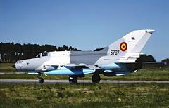 MIG 21 6707 (TF102A) Tags: aviation aircraft airplane kodachrome mig mig21 raflossiemouth romanianairforce lancer 6707