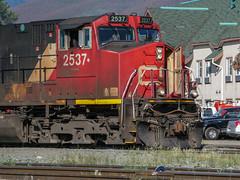 Train passing through Jasper (anthsnap!) Tags: canada canadianrockies jasper alberta train railway jaspernationalpark