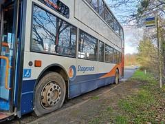 MX55KSE 18384 Bit Flat 130119 (ade torquay) Tags: stagecoach devon trident