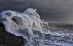 Armageddon (anthony.dyke1) Tags: seascape storm waves sea weather porthcawl wales lighthouse