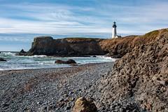 Yaquina Lighthouse (amarilloladi) Tags: beach beaches seascapes sea oregoncoast lighthouse lighthouses pacificocean pacificnorthwest newportoregon yaquinalighthouse oregon