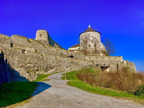 Kufstein fortress back entrance on a sunny day in Tyrol, Austria