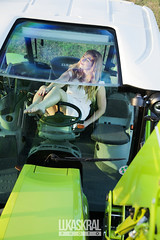 Dominica and CLAAS Panoramic cab (Lukas Dynasty Kral) Tags: lukaskralphotocz dynastyphotography photo people girl czechrepublic czechgirl agriculture agricltural agriculturalphotographer claas arion beautiful portrait