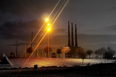 At the end of The Coco (Fnikos) Tags: beach shore coast seashore seaside sand sailboat steps chimenea chimney landscape sky cloud skyscape architecture light rays dark darkness tree nature night nightview nightshot outdoor
