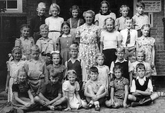 Class photo (theirhistory) Tags: boy children kids girls school class form group pupils jumper trousers jacket wellies shoes dress shorts rubberboots