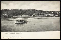 Postkort fra Agder (Avtrykket) Tags: bolighus dampbåt dampsag hus industri postkort rutebåt sommersted våninghus arendal austagder norway nor