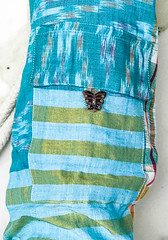 Rope Pocket Rope Mat Bag Turquise Butterfly.jpg (KIZEN THE LABEL) Tags: matbag leathertrim yogamatbag ropepocketmatbagturquisebutterfly shellbutton butterfly rope yoga balisarong flyinghearts madewithlove pilates sarong kizen turquise