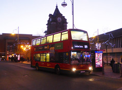 GAL PVL284 - PJ02RCU - OSF - BEXLEYHEATH CLOCK TOWER - THUR 13TH DEC 2018 (Bexleybus) Tags: go ahead goahead london pvl284 pj02rcu volvo b7 plaxton president bexleyheath shopping centre clock tower kent tfl route 89