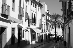 Calle Cardenal Gonzalez # 2 (just.Luc) Tags: córdoba andalusië andalucía andalusien andalousie andalusia spain spanje espagne españa spanien street rue straat strasse bn nb zw monochroom monotone monochrome bw houses maisons huizen häuser europa europe