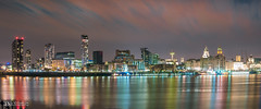 Waterfront (Bob Edwards Photography - Picture Liverpool) Tags: pictureliverpool waterfront merseyside bobedwardsphotography rivermersey night skyline longexposure city